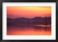 Framed Pont St Benezet, Avignon, France