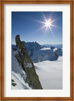 Framed Winter View of The French Alps