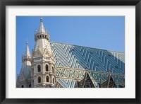 Framed St Stephen's Cathedral, Vienna, Austria