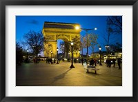 Framed Arch of Triumph, Paris, France