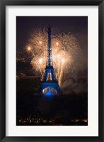 Framed Fireworks at the Eiffel Tower
