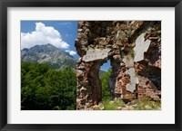 Framed Genoese Fort Ruins, Corsica, France