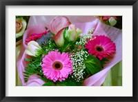 Framed Flowers in Market