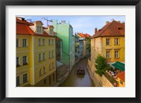 Framed Historical Buildings and Canal, Czech Republic