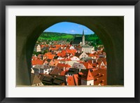 Framed Cityscape of Cesky Krumlov, Czech Republic
