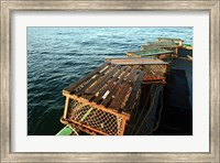Framed Nova Scotia, Cape Breton, Lobster Traps