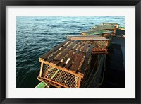 Framed Nova Scotia, Cape Breton, Lobster Traps