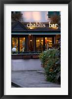 Framed Chablis Bar Cafe, Chablis, Bourgogne, France
