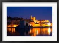 Framed Pope's Palace on the Rhone and Pont Saint St Benezet