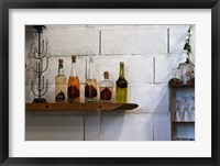 Framed Collection of Pear Eau-de-Vie, Champagne Francois Seconde