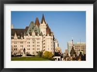 Framed Chateau Laurier Hotel in Ottawa