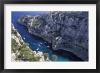 Framed Limestone Cliffs,Provence, France