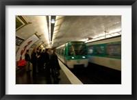 Framed Commuters Inside Metro Station, Paris, France