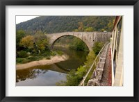 Framed Bridge at Douce Plage, Rhone-Alps, France