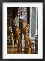 Framed Hall of Mirrors and Gold Statues, Versailles, France