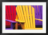 Framed Colorful Adirondack Chairs