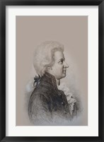 Framed Mozart Drawing