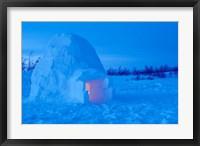 Framed Interior of Arctic Igloo
