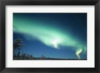 Framed Aurora Borealis, Lapland, Finland