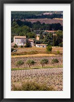 Framed Provencal Village, Chateau Vannieres