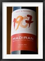 Framed Bottle of 1907 Madiran, France