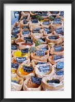 Framed Merchant's Stall of Spices at Street Market