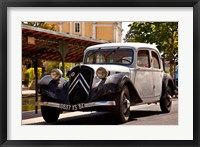 Framed Classic Citroen Avante car, Provence, France