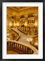 Framed Grand Staircase Entry to Palais Garnier Opera House