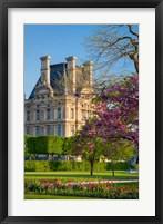 Framed Springtime in Jardin des Tuileries