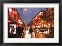 Framed Boulevard Haussmann, Paris, France