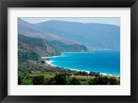 Framed Ionian Sea and Borsh Beach
