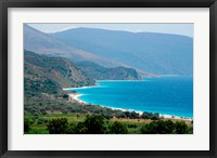 Framed Ionian Sea and Borsh Beach