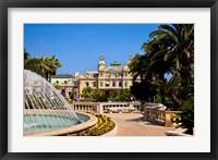 Framed Fountain and Gardens, Monaco