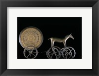 Framed Solar Disk with Chariot and Horse Replica