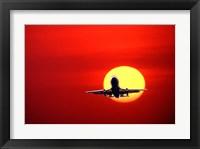 Framed Commerical Jet