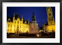 Framed House of Governor and Belfort Church, Belgium