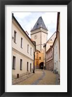Framed Old Town Buildings in Tabor, Czech Republic