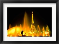 Framed Fountain at the Eiffel Tower, Paris, France