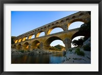 Framed Sunrise Scenic of a Provence Region Town, France