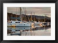 Framed Marina at Dawn