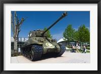 Framed US Sherman tank, Airborne Museum