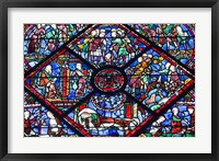 Framed Chartres Cathedral Stained Glass