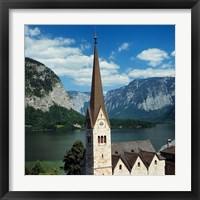 Framed Spire of Hallstatt Church
