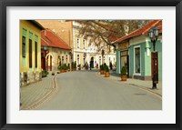 Framed Main Street, Tokaj, Hungary