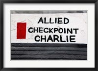 Framed Checkpoint Charlie of the Berlin Wall