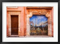 Framed Painted Door in Roussillon, Provence, France