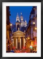 Framed Notre Dame de Lorette and Basilique