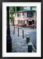 Framed Historic La Maison Rose Cafe in Montmartre
