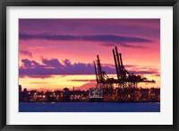 Framed Cargo Cranes, Port of Vancouver