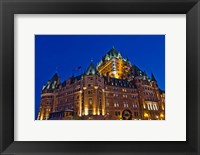 Framed Chateau Frontenac Hotel at Night